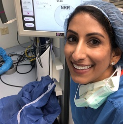 Preeya smiling in surgery